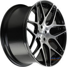 ROVOS WHEELS - PRETORIA - machined w/ black