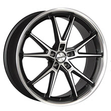 SHIFT WHEELS - CARRERA - Black Gloss w/ Machined