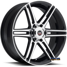 Spec 1 Wheels - SP-22 - black gloss w/ machined