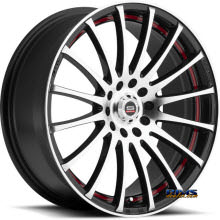 Spec 1 Wheels - SP- 12 - black machined w/ red stripe