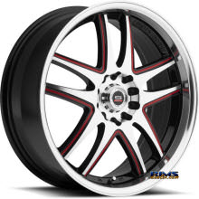 Spec 1 Wheels - SP- 15 - black w/ red cap