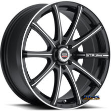 Spec 1 Wheels - SP- 19 - black gloss w/ machined