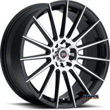 Spec 1 Wheels - SP- 27 - black gloss w/ machined