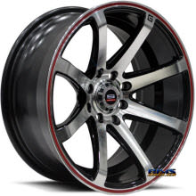 Spec 1 Track - SPT-17 Red Stripe - machined w/ black