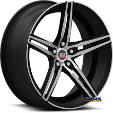 Spec 1 Wheels - SPM-75 - black gloss w/ machined