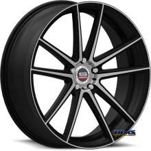 Spec 1 Wheels - SPM-79 - black gloss w/ machined