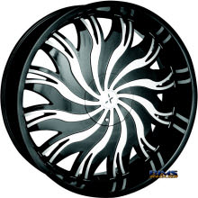 STARR ALLOY WHEEL - 458 Magnum  - black gloss