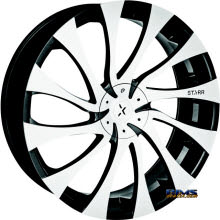 STARR ALLOY WHEEL - 718 GATSBY - machined w/ black