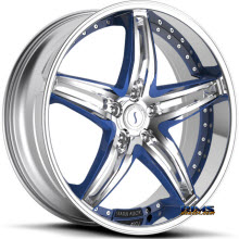 STATUS - S837 Haze (custom blue / 5-lug only) - chrome