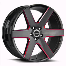 STRADA - CODA - Black Gloss w/ Red