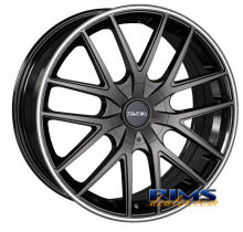 Touren Custom Wheels - TR60 - black w/ stripe