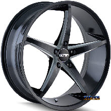 Touren Custom Wheels - TR70 3270 - Black Gloss w/ Machined