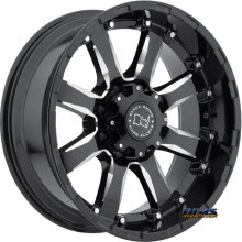 BLACK RHINO - SIERRA - GLOSS BLACK W/MILLED SPOKES - BLACK GLOSS
