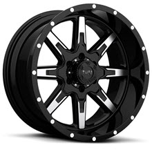 Tuff A.T Wheels - T15 - Black Gloss w/ Machined