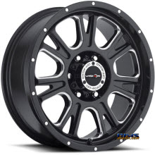 Vision Wheel - 399 Fury - Green Tint - black gloss