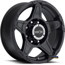 Vision Wheel - Wizard 395 - black flat