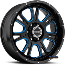 Vision Wheel - 399 Fury - Blue Tint - black gloss