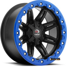 Vision Wheel - Five-Fifty One (blue lip armor ) - black flat
