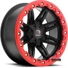 Vision Wheel - Five-Fifty One (red lip armor ) - black flat