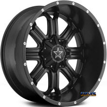TIS Wheels - 535B - satin black