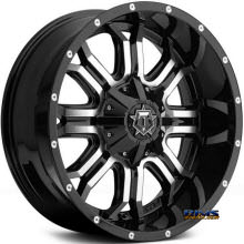 TIS Wheels - 535MB - black gloss w/ machined