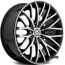 TIS Wheels - 537MB - black gloss w/ machined