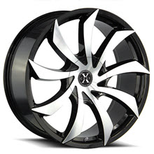 XCESS WHEELS - X01 - Black Gloss w/ Machined