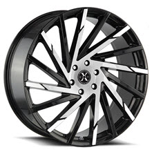 XCESS WHEELS - X02 - Black Gloss w/ Machined