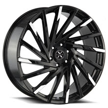 XCESS WHEELS - X02 (Mach Tips) - Black Gloss w/ Machined