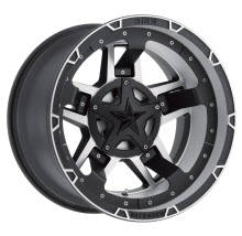 KMC XD Off-Road - XD827 RS3 - Matte Black - Black Flat w/ Machined