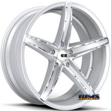 XO LUXURY WHEELS - ST. THOMAS - silver flat