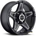 Vision Wheel - Wizard 395 - black flat w/ machined