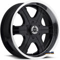 blast 3961 - black flat w/ machined