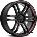 FX - black machined w^ red stripe