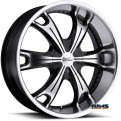 Vision Wheel - Milanni Stellar 452 - black flat w/ machined