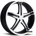 KooMilanni l Whip 5 446 - black flat w/ machined