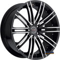 Vision Wheel - Milanni Khan 9032 - black gloss w/ machined