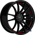 R959 _ Red Inner - black gloss w/ red