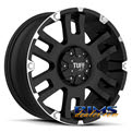 Tuff A.T Wheels - T04 - black flat w/ machined