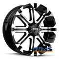 Tuff A.T Wheels - T13 - machined w/ black