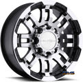 Vision Wheel - Warrior 375 - black flat w/ machined