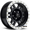 Vision Wheel - 398 Manx - black flat w/ machined