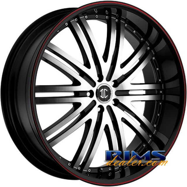 Pictures for 2Crave Rims No.11 machined black w/stripe