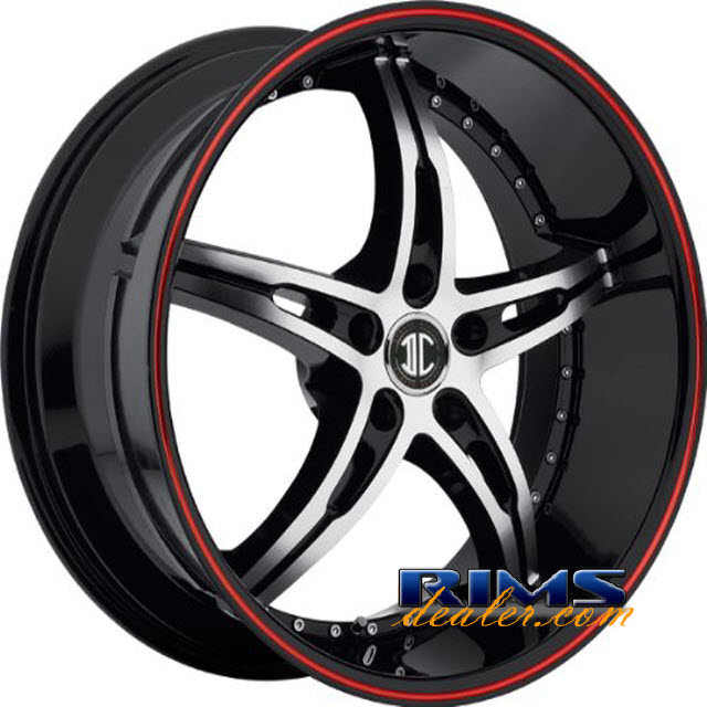 Pictures for 2Crave Rims No.14 machined black w/ stripe