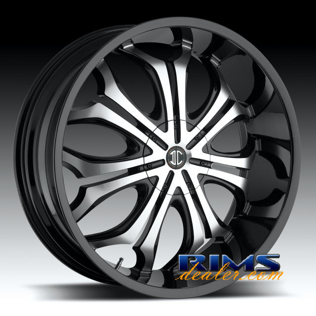 Pictures for 2Crave Rims No.8 machined w/ black