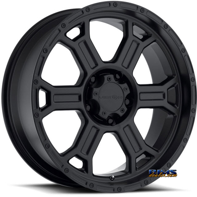 Pictures for Vision Wheel 372 Raptor black flat