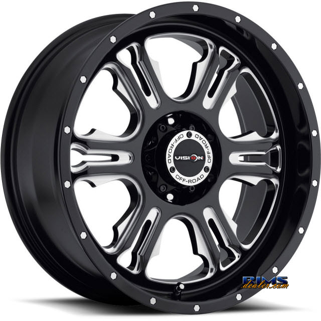 Pictures for Vision Wheel Rage 397 black flat w/ machined