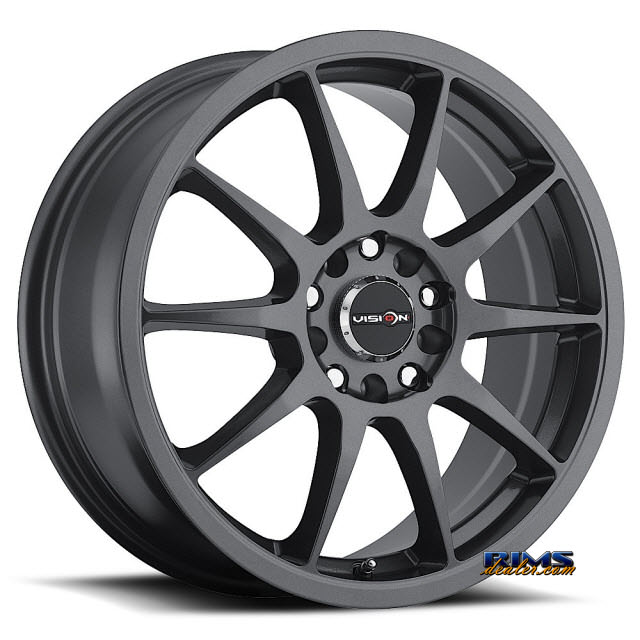 Pictures for Vision Wheel Venom 425 gunmetal flat