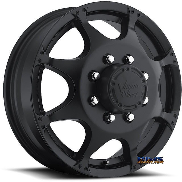 Pictures for Vision Wheel Crazy Eightz 715 black flat