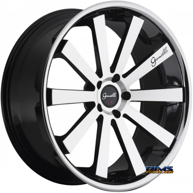Pictures for GIANELLE Wheels SANTO-2SS machined black w/ chrome lip